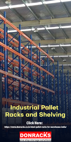 High Shelves and Pallets in a distribution warehouse for storage purpose.