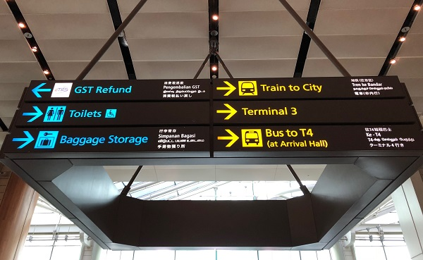 Wayfinding And Guiding Signage For Airlines.